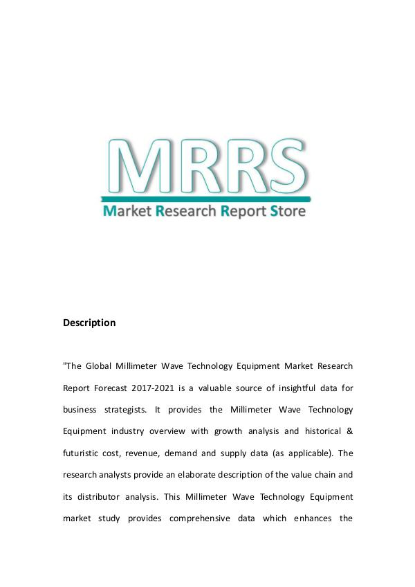 Global Millimeter Wave Technology Equipment Market