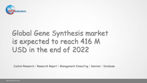 QYR Market Research Global Gene Synthesis market research