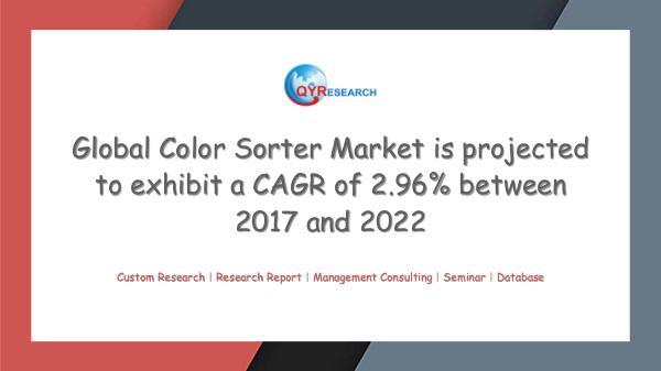 QYR Market Research Global Color Sorter Market Research
