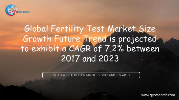 QYR Market Research Global Fertility Test Market Research