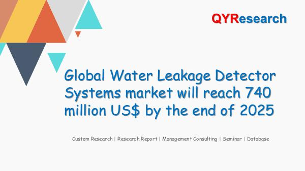 QYR Market Research Global Water Leakage Detector Systems market