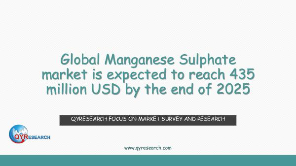 QYR Market Research Global Manganese Sulphate market research