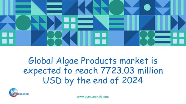 QYR Market Research Global Algae Products market research