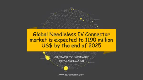 QYR Market Research Global Needleless IV Connector market research