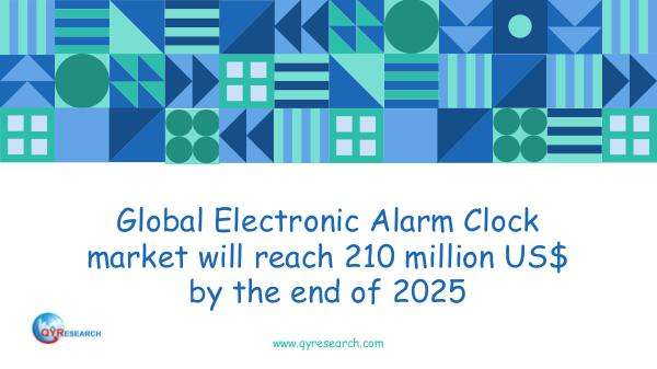 QYR Market Research Global Electronic Alarm Clock market research