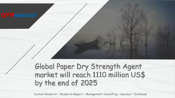 QYR Market Research Global Paper Dry Strength Agent market research