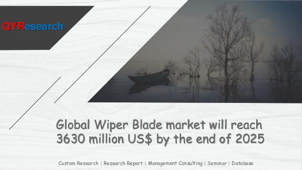 QYR Market Research Global Wiper Blade market research