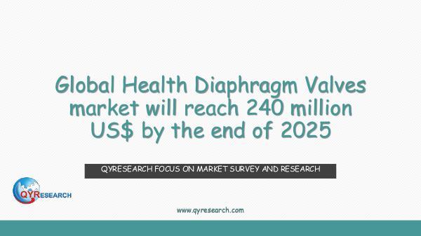 QYR Market Research Global Health Diaphragm Valves market research