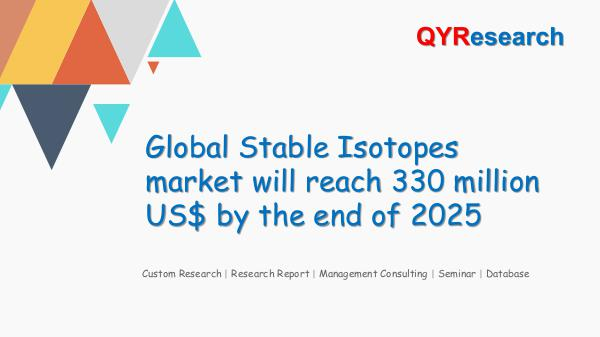 QYR Market Research Global Stable Isotopes market research