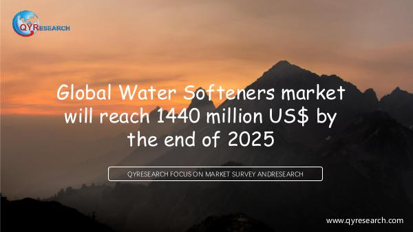 QYR Market Research Global Water Softeners market research