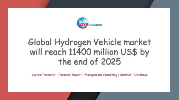 QYR Market Research Global Hydrogen Vehicle market research