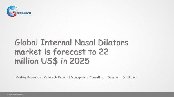 QYR Market Research Global Internal Nasal Dilators market research