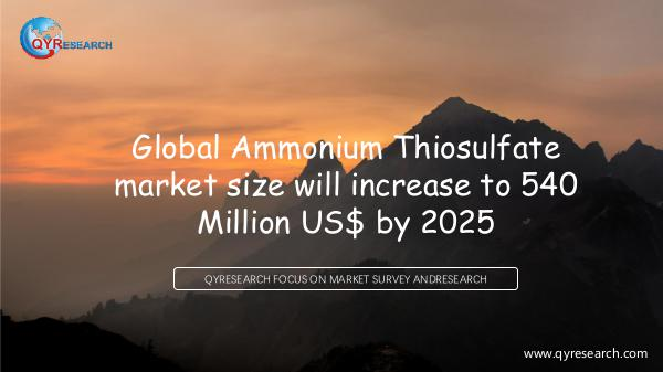 QYR Market Research Global Ammonium Thiosulfate market research