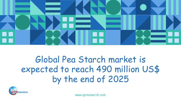 QYR Market Research Global Pea Starch market research