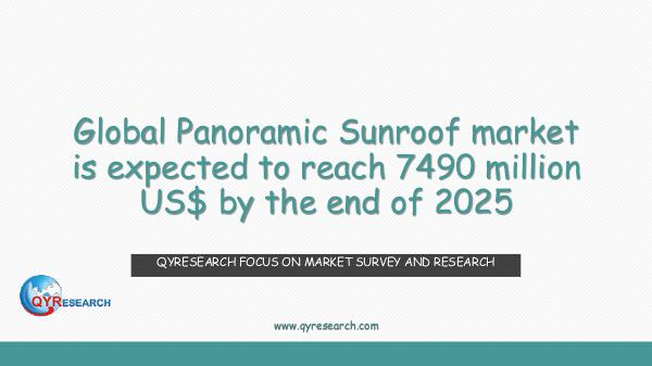 QYR Market Research Global Panoramic Sunroof market research
