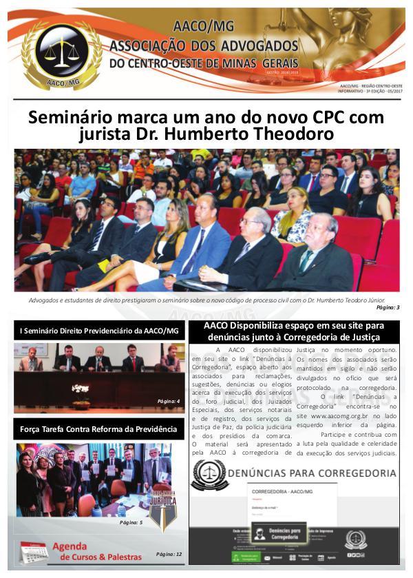 Informativo AACO/MG 3ª Edição
