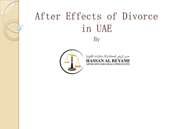 Laws in UAE After Effects of Divorce in UAE