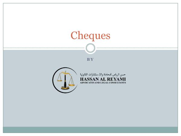 Laws in UAE Cheques