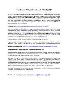 Dry Type Transformer Market worth 5.38 Billion USD by 2020