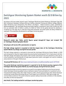 Switchgear Monitoring System Market worth $2.0 Billion by 2023