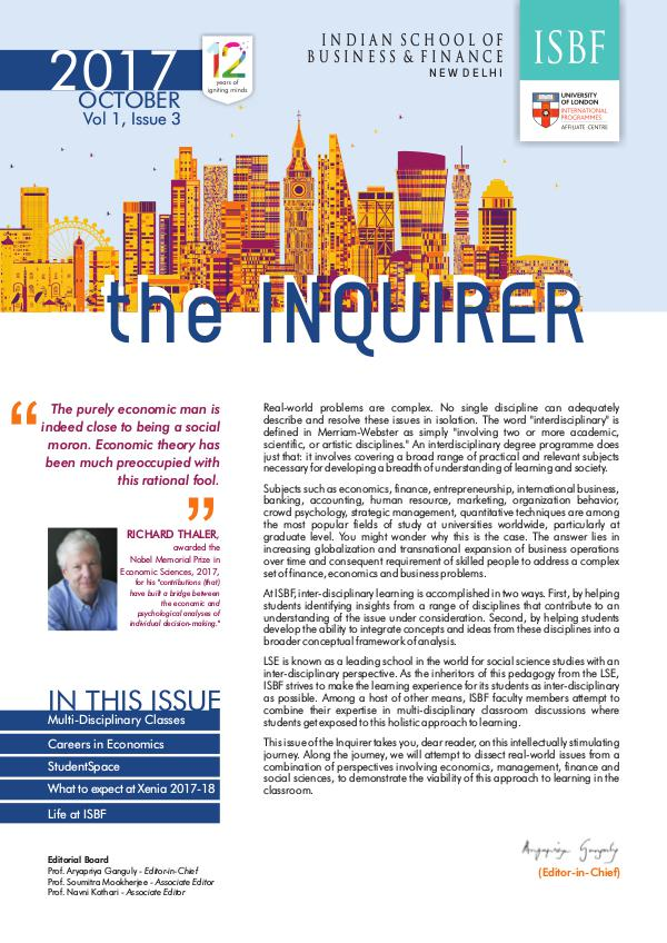 The Inquirer Vol 1, Issue 3