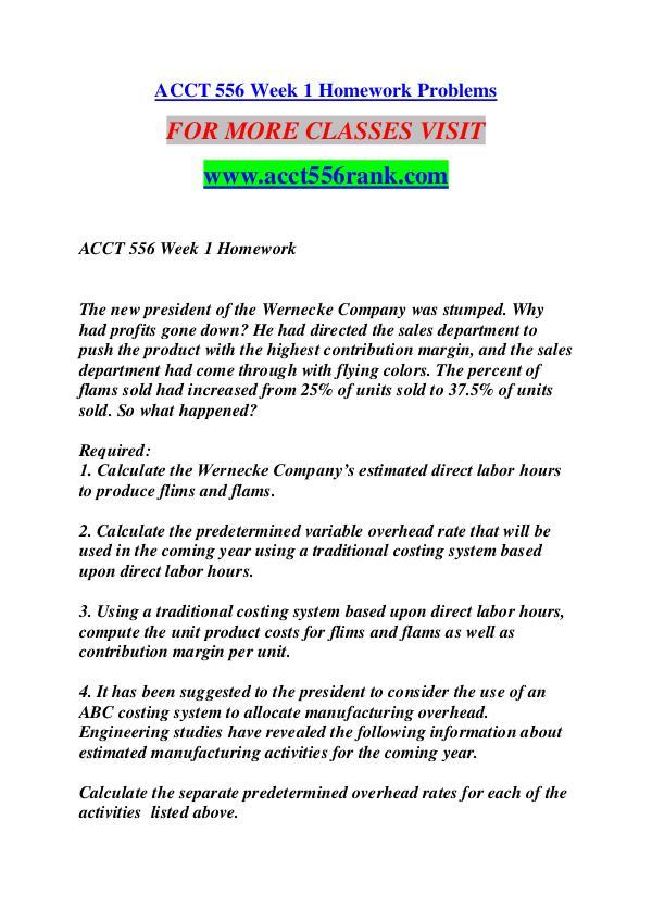 ACCT 556 RANK Great Stories Here/acct556rank.com ACCT 556 RANK Great Stories Here/acct556rank.com