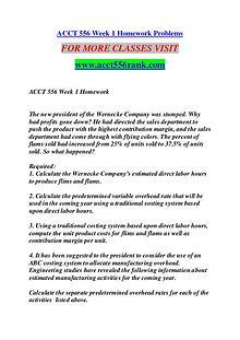 ACCT 556 RANK Great Stories Here/acct556rank.com
