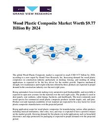 Wood Plastic Composite Market Worth $9.77 Billion By 2024