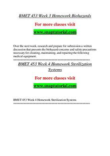 BMET 453 help A Guide to career/Snaptutorial