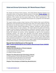 Pyrite Industry Global and Chinese Analysis for 2012-2022