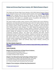 Global Deep Fryers Industry Analyzed in New Market Report