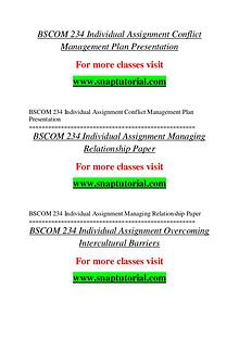BSCOM 234 help A Guide to career/Snaptutorial