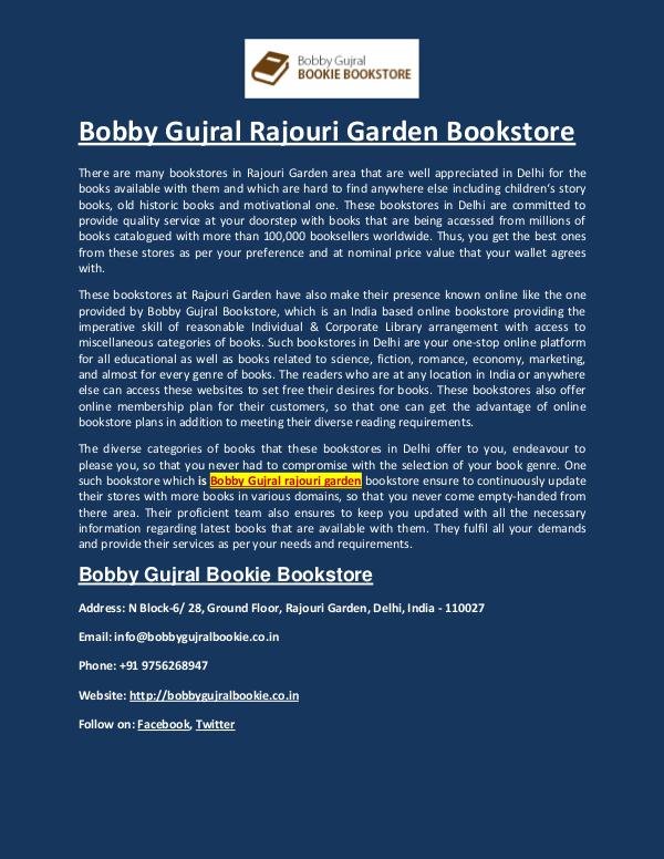 Bobby Gujral Bookie Bookstore Bobby Gujral Rajouri Garden - Bobby Gujral Bookie