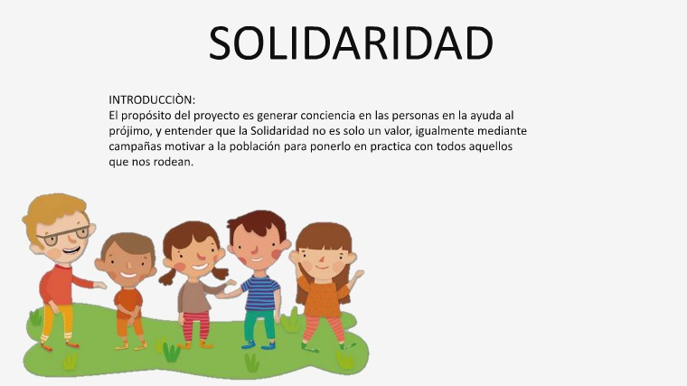 SOLIDARIDAD solidaridad