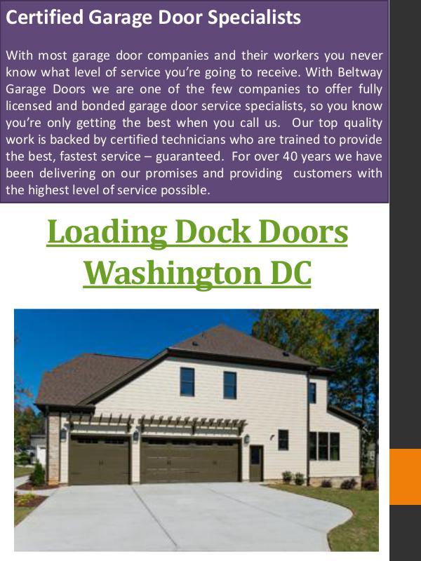 Dock Leveler Washington DC Loading Dock Doors Washington DC