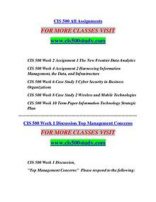 CIS 500 STUDY creative knowledge /cis500study.com