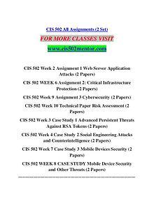 CIS 502 MENTOR creative knowledge /cis502mentor.com