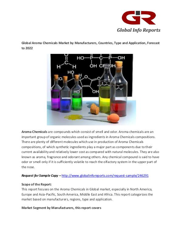 Aroma Chemicals Market : Robertet, Solvay, Takasago Aroma Chemicals Market
