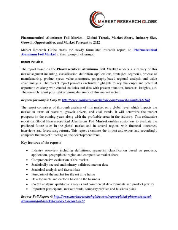 Pharmaceutical Aluminum Foil Market - Global Industry Analysis Pharmaceutical Aluminum Foil Market