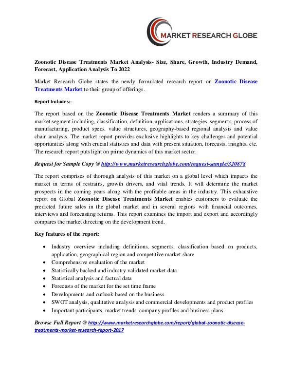 Zoonotic Disease Treatments Market - Industry Analysis Zoonotic Disease Treatments Market