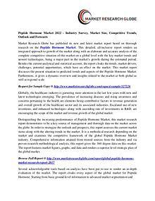 Peptide Hormone Market 2022 - Industry Survey, Market Size