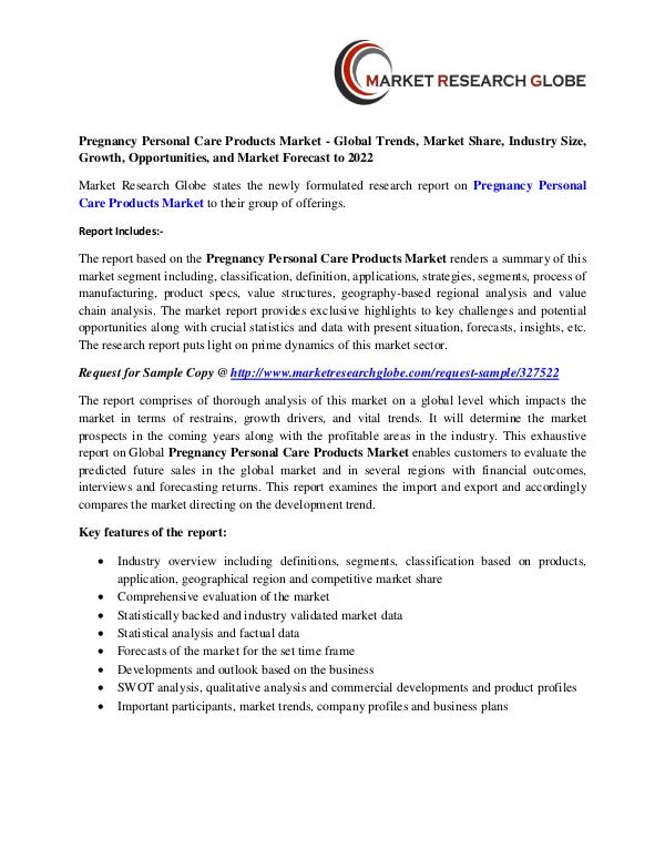 Pregnancy Personal Care Products Market - Global Trends, Market Share Pregnancy Personal Care Products Market