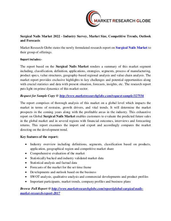 Surgical Nails Market 2022 - Industry Survey, Market Size, Surgical Nails Market