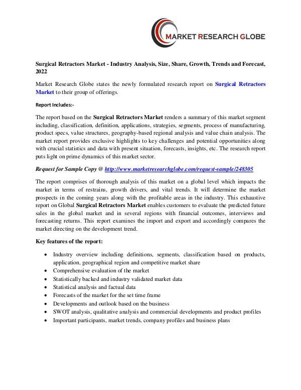 Surgical Retractors Market - Industry Analysis, Size, Share, Growth, Surgical Retractors Market