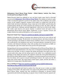 Inflammatory Bowel Disease Drugs Market - Global Industry Analysis,