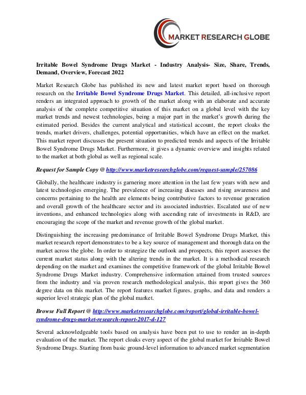 Irritable Bowel Syndrome Drugs Market - Industry Analysis Irritable Bowel Syndrome Drugs Market