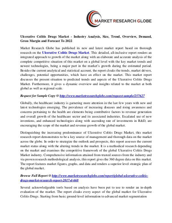Ulcerative Colitis Drugs Market - Industry Analysis, Size, Trend Ulcerative Colitis Drugs Market -