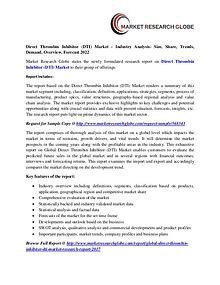 Direct Thrombin Inhibitor (DTI) Market Analysis- Size, Share, Growth,