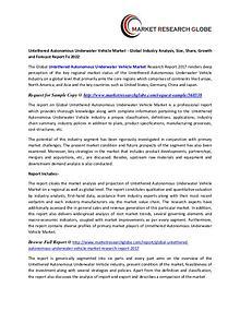 Untethered Autonomous Underwater Vehicle Market - Global Industry