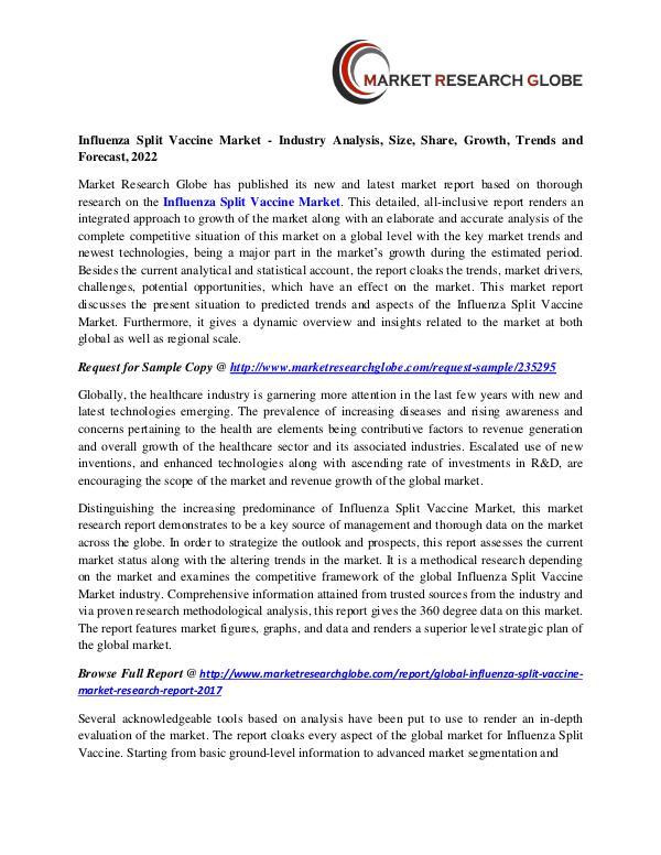 Influenza Split Vaccine Market Size, Share, Analysis, Industry Demand Influenza Split Vaccine Market